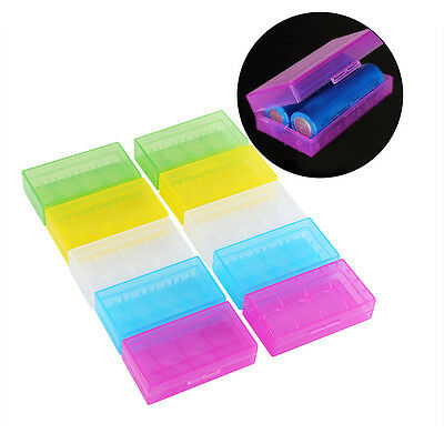 10pcs Hard Plastic Rectangle Storage Box Container Holder for 2 x 18650 Battery
