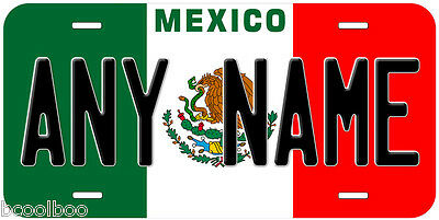 Mexico Flag Any Name Novelty Car Auto License Plate