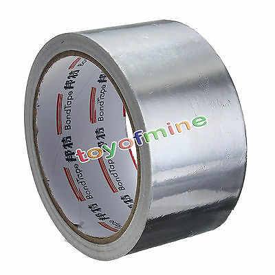 Roll Silver Aluminium Foil Adhesive Sealing Tape Heating Duct Repairs 48MM x 17M