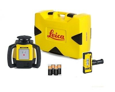 Rotating Laser Leica Rugby 610 w/ Rod 140 & Alkaline Package 6008614