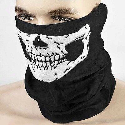 Black Balaclava Mask Under Helmet Winter Warm Army Style Neck Warmer Skull Hat