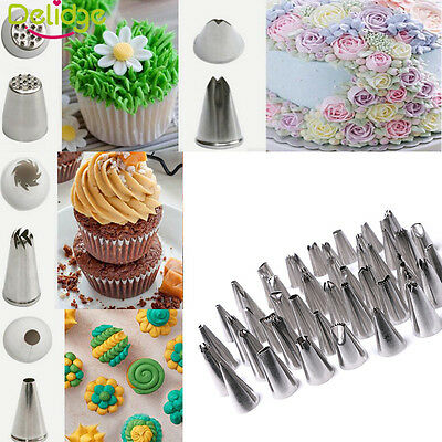 Stainless Steel Icing Piping Nozzles Tips Cake Decorating Cupcake Pastry Baking
