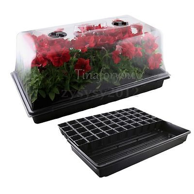 Germination Seed Starter Tray Humidity Dome Cultivate Basin Horticulture Set
