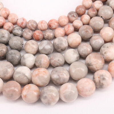 """1Bunch Pink Zebra Striped Round Loose Spacer Beads For Necklace Accessory 15 """""""