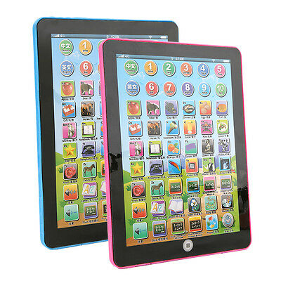 Tablet Pad Computer For Kid Children Learning English Educational Teach Toy B1