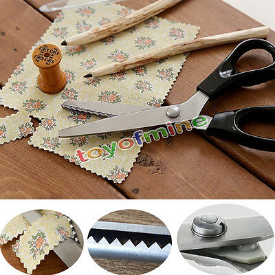 Professional Dressmaking Pinking Shears Fabric Crafts Zig Zag Cut Scissors