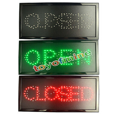 Ultra Bright LED   with ON/OFF OPEN/CLOSE Business Sign Light Neon