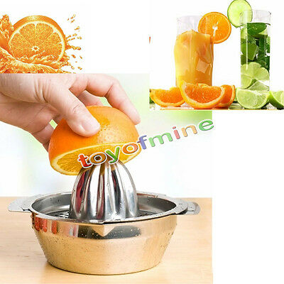 Handy Stainless Fruit Lemon Lime Kitchen Citrus Juicer Hand Press Squeezer Tool