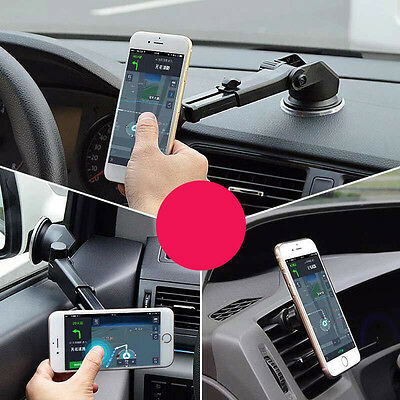 Car Magnetic Suction Mount Holder Stand For Mobile Cell Phone iPhone 6 Plus GPS