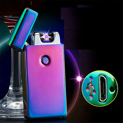 USB Electric Lighter Dual Arc Flameless Cigarette Windproof Lighter Rechargeable