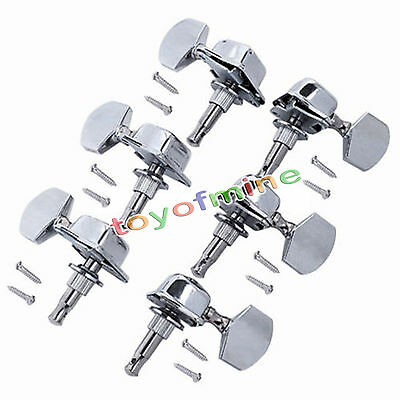 Acoustic Guitar String Semiclosed Tuning Keys Pegs Tuners Machine Heads 3 pairs