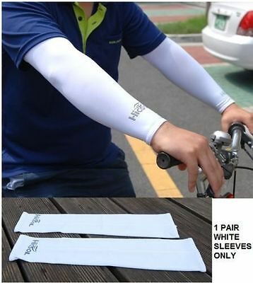 1 Pair Cooling Sport Arm Stretch Sleeves Sun Protection Covers Golf DQ