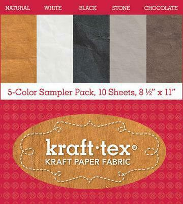 Kraft-tex (r) 5-color Sampler Pack, 10 Sheets, 8 1/2 X 11 Free Shipping!