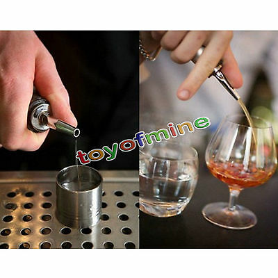 2/10pcs Stainless Speed Pourer free flow liquor dispenser shot spirit nip bar