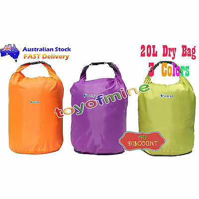 AU Waterproof Drift Floating Camping Swimming Beach Carry Dry Bag 20L