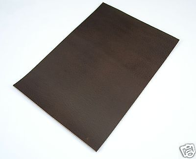 Büffelleder Brown Croupon Buff Leather DIN A4 Dickleder Sattlerleder 3,2-3,8 mm