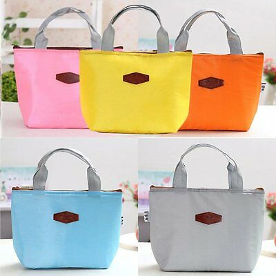 Portable Thermal Insulated Cooler Lunch Box Travel Picnic Carry Tote Bag DQ