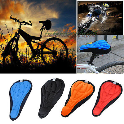 Cycling Bicycle Bike Soft Cushion 3D Gel Silicone Seat Pad Saddle Cover Case DQ