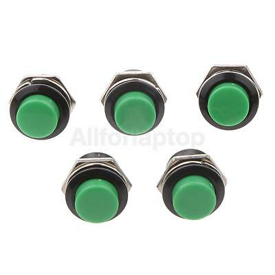 5pcs Ac 125v 6a 2 Pin Push Button Switch Rundkopf Mikroschalter Grün