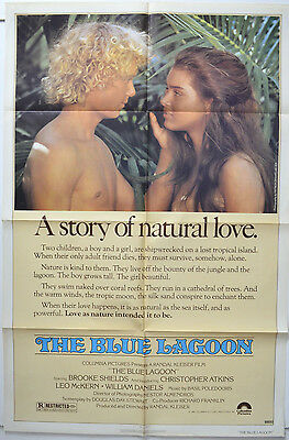 THE BLUE LAGOON (1980) 1-Sheet Movie Poster - Brooke Sheilds, Christopher Atkins