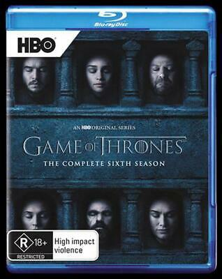Game Of Thrones: Season 6 - Blu Ray Region B Free Shipping!