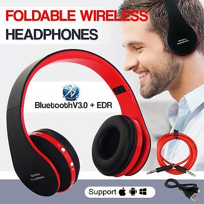 Foldable Wireless Bluetooth Headphones Stereo Headsets For Samsung iPhone HTC PC