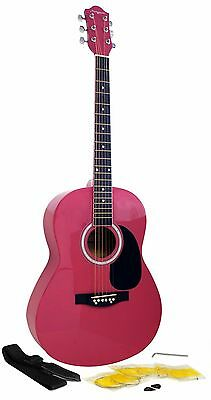 Martin Smith Acoustic Guitar Pack Steel Strung Right Handed *PINK*
