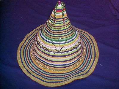 Womens Ladies Festival Hat - Colourful Pixie Funky Hippy Design.reduced Price!