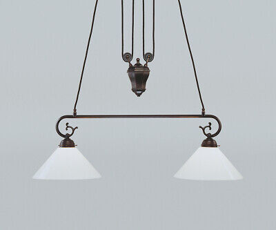 Pendant Light Pull Light Antique Brass Lamp Berliner Messinglampen