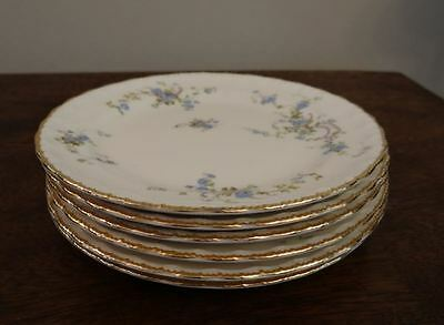 Antique Pope Gosser China Bread And Butter Plates Fleurette Pattern Set Of Six