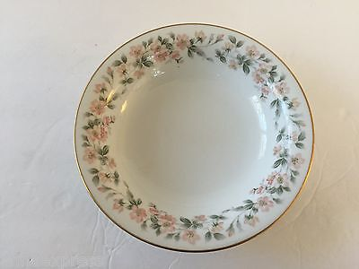 """Noritake China 5415 (Peach Flowers, Leaves) - 7-3/8"""" COUPE SOUP BOWL"""