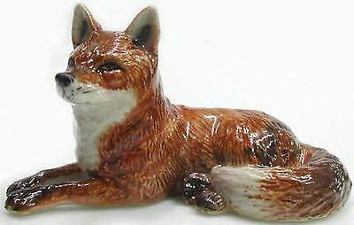 Northern Rose Miniature Porcelain Animal Figure Red Fox Lying Down R031