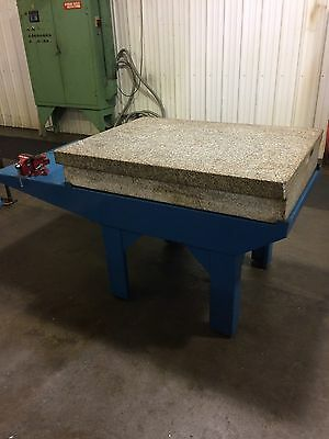 "36"" x 48"" x 8"" Granite Surface Plate with Stand"
