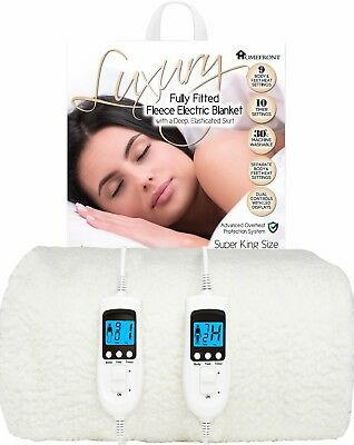 Homefront Fully Fitted Electric Under Blanket Size Single Double King Super