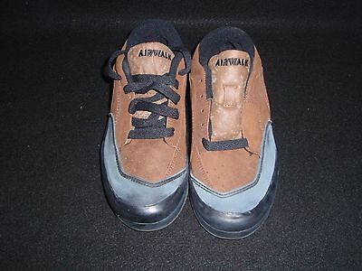 Nos Vintage Airwalk Galaxie Shoes Brown And Black Suede Size 6.5 Bmx Sk8 Shoes