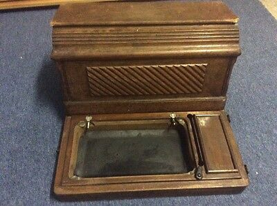 Vintage Singer Sewing Machine Wooden Coffin Box/case For /28/128/