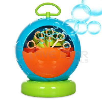 Childrens Bubble Buddies Green Hippo Fun Bubble Machine Indoor Outdoor Toy Kids