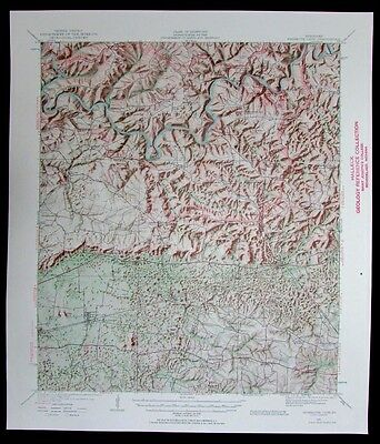 Mammoth Cave Kentucky vintage 1961 old USGS Topo chart