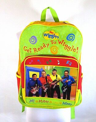 The Original Wiggles Backpack 2003 Green Yellow Red