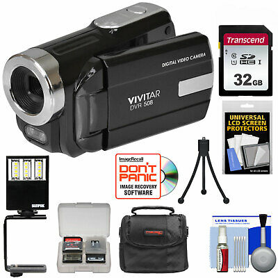 Vivitar DVR-508 HD Digital Video Camera Camcorder Kit Black