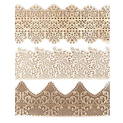 House of Cake Edible Lace Ready Made Decoration Sugarcraft Trim PEARL 385 x 75mm