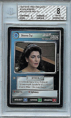 Star Trek Deanna Troi #50 BGS 8.0 (8) NM-MT 1994 Premiere STNG Card