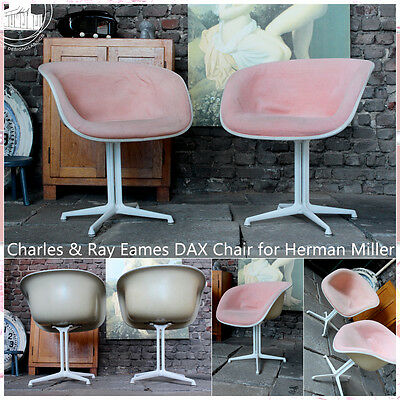 Charles & Ray Eames Dax Hard Vintage Mid Century Modern Armchair Sessel Fauteuil