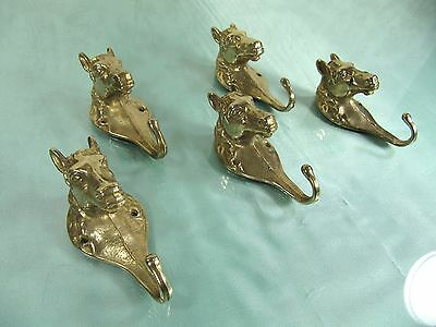 Brass Wall Hook: Horse Head Architectural Equestrian Bronze Hat Hall Tree Set