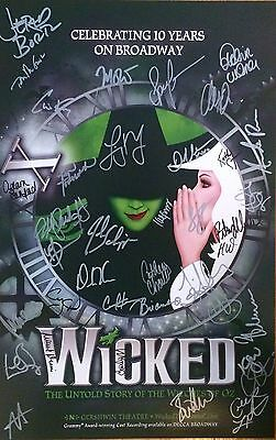 *rare* Wicked 10Yr Anniversary Performance Broadway Cast Signed Poster + Extras!