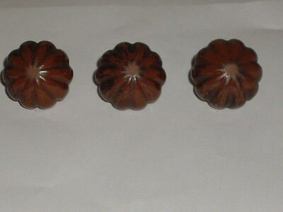 vintage drawer pulls made of clay