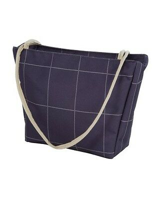 Sholley Handbag & Free Clip to attach to your Sholley Trolley Navy Blue Check