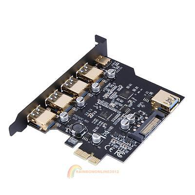 PCI-E 4x Express to USB 3.1 Type C Dual Port 19-Pin Power Expansion Card Adapter