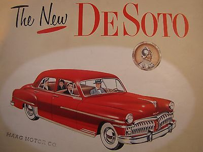 THE NEW DeSoto Full Line Original Sales Brochure 1950 Custom DeLuxe Sportsman