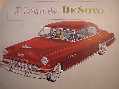Brilliant New DeSoto FIRE DOME Custom DeLuxe 6 V-8 Original Sales Brochure 1952
